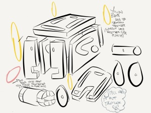 Next Wooden Wind-Up Design iPad Sketch